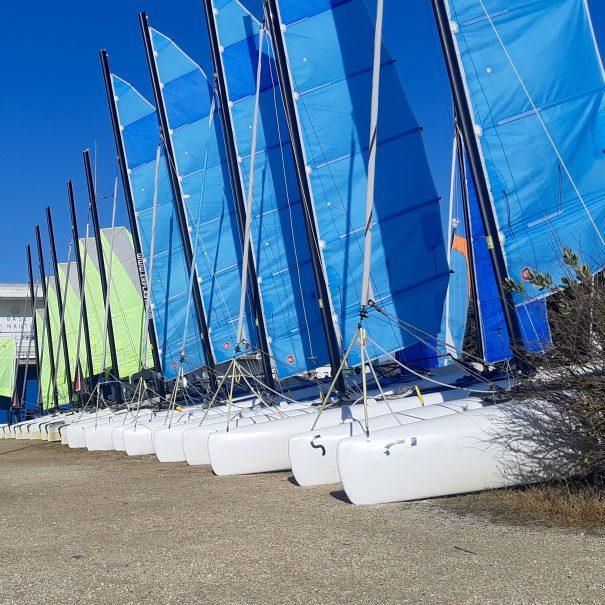 cours voile catamaran oléron yco saint-denis newcat f1