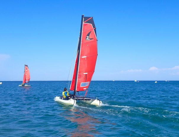cours voile twincat 13 catamaran yco oléron